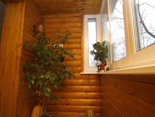 Отделка балкона блок хаус своими руками