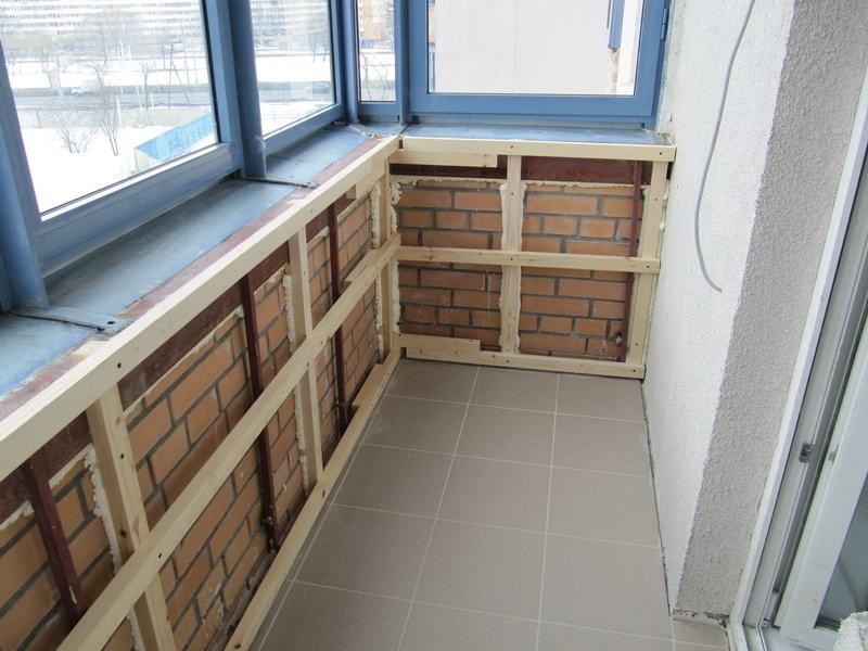 Отделка балкона внутри фото своими руками