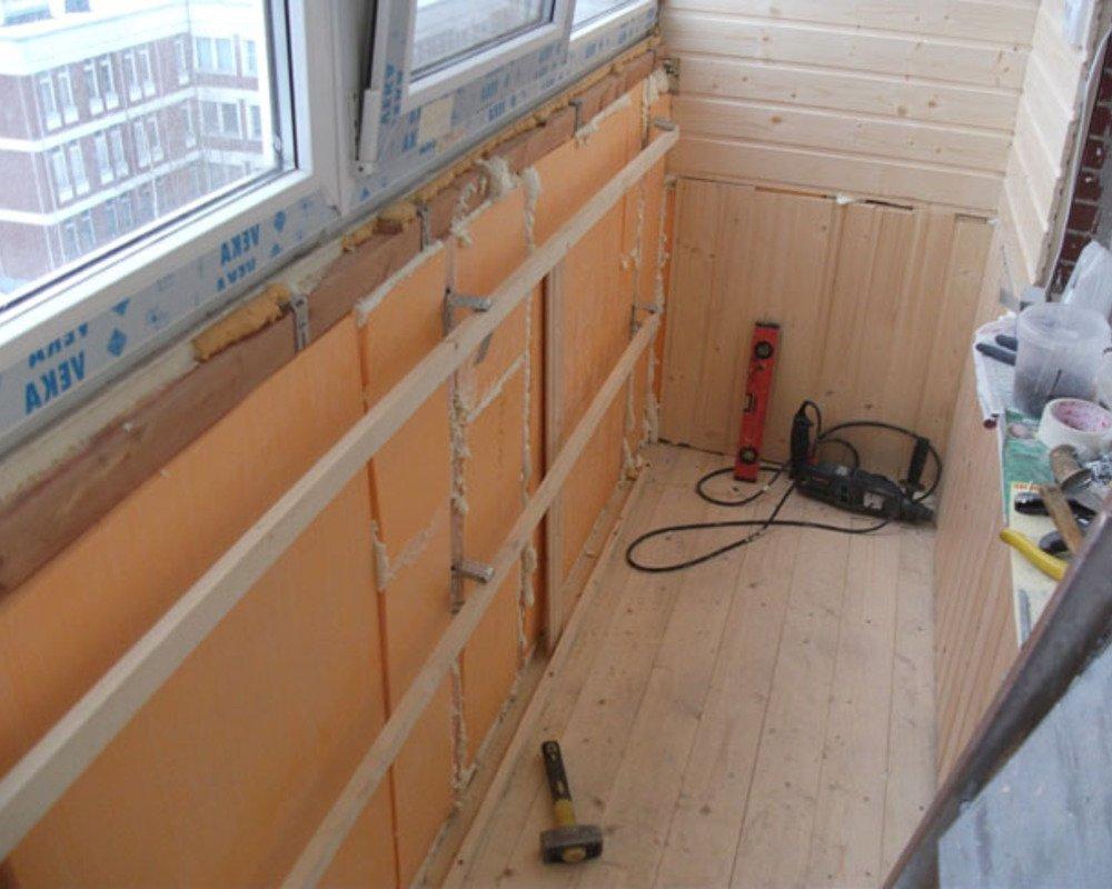 Фото отделки и утепления балконов своими руками