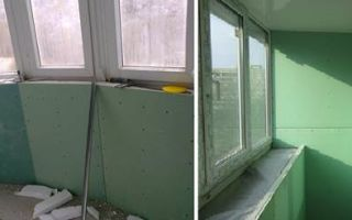 Отделка лоджии и балкона гипсокартоном