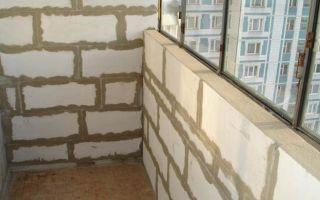 Как выложить парапет лоджии и балкона из пеноблоков