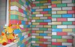 Как покрасить кирпичные стены на балконе?