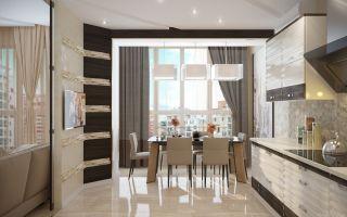 Как правильно выполнить расстановку мебели на кухне вместе с балконом?