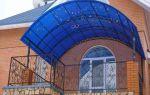 Создание навеса из поликарбоната над балконом