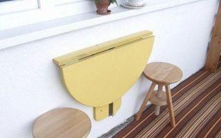 Как самому сделать на балкон откидной столик
