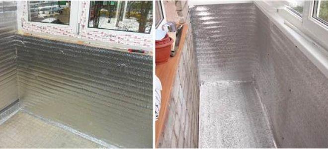 Утепление балкона и лоджии пенофолом и его основные параметры