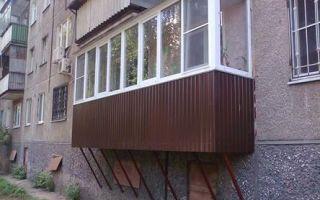 Как построить и узаконить балкон на первом этаже