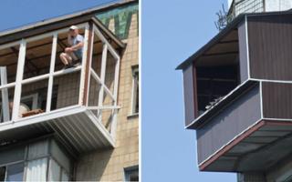 Расширение и остекление выносного балкона без разрешения