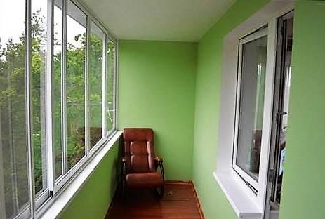 Балкон отделанный гипсокартоном
