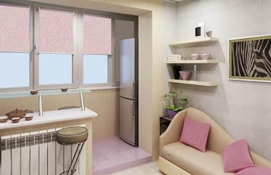 Как лучше объединить балкон и кухню