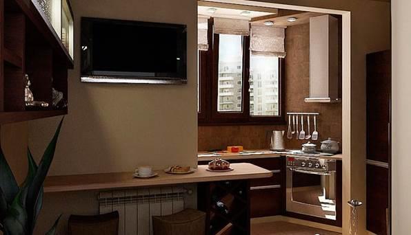 Можно ли увеличить кухню за счет лоджии