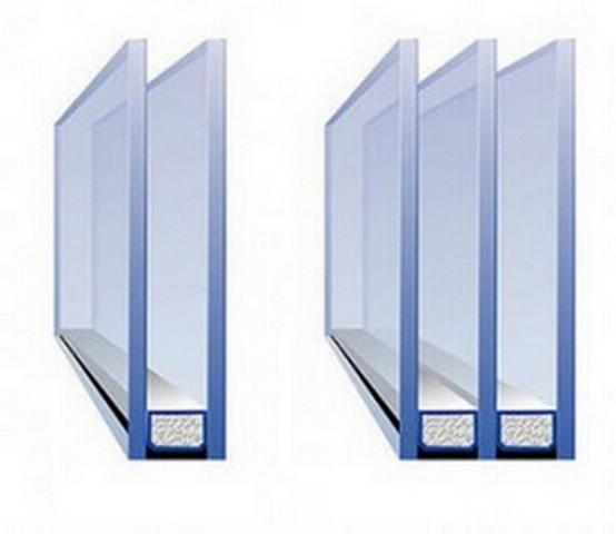 Окна лучше застеклить двухкамерными стеклопакетами