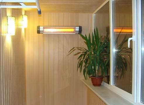 Использование инфракрасного отопления балкона лоджии