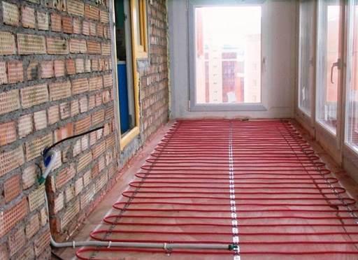 Как сделать стяжку на балконе для теплого пола