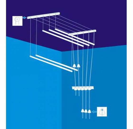 Схема лианы для сушки белья на балконе
