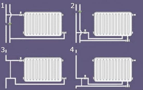 Схемы установки радиатора на лоджии