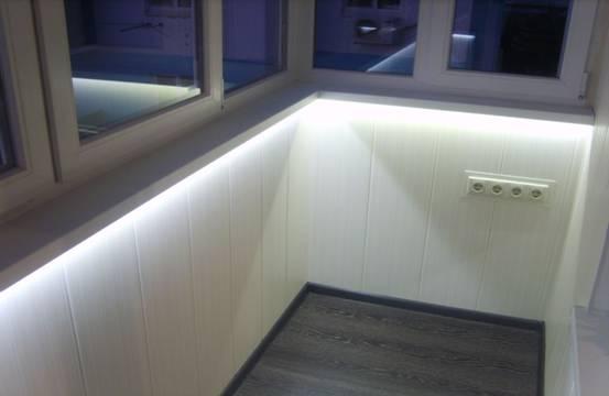 Создание светодиодного освещения на балконе