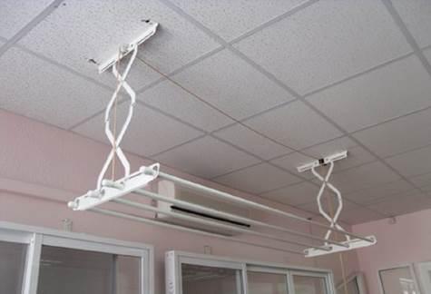 Сушилка со складывающимся механизмом, чтобы вешать белье на балконе