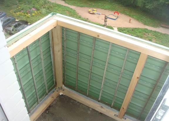 Установка обрешетки для монтажа сайдинга на балконе