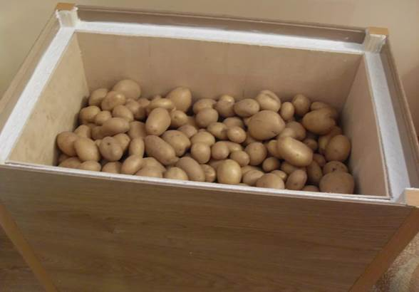 Ящик для хранения картофеля на балконе зимой