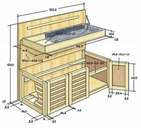 Ящик для картофеля, чтобы его хранить на балконе