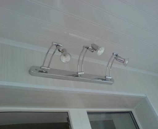 Как сделать свет на балконе: лампа с направленным светом