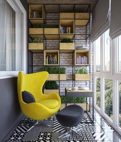 Интересный балкон в современном стиле