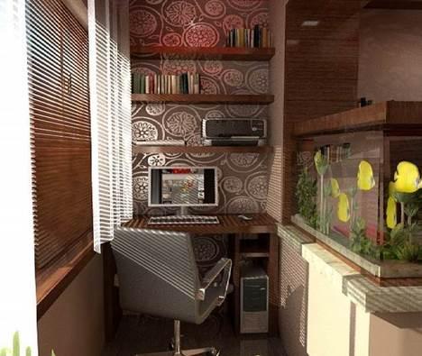Как оборудовать лоджию под кабинет