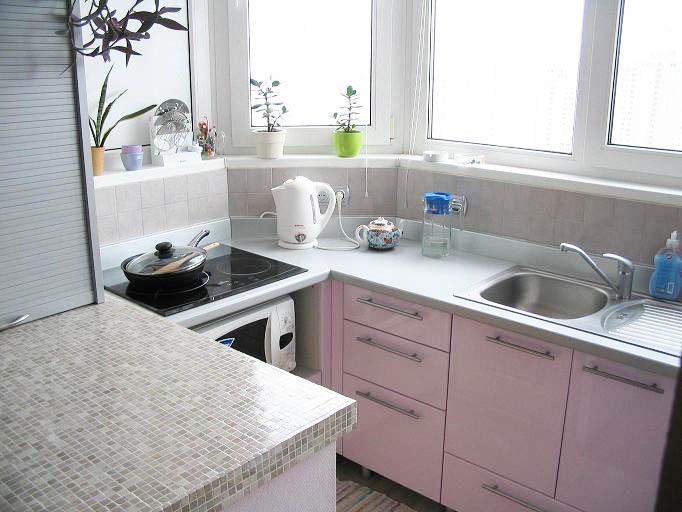 Как оформить балкон, создав продолжение кухни