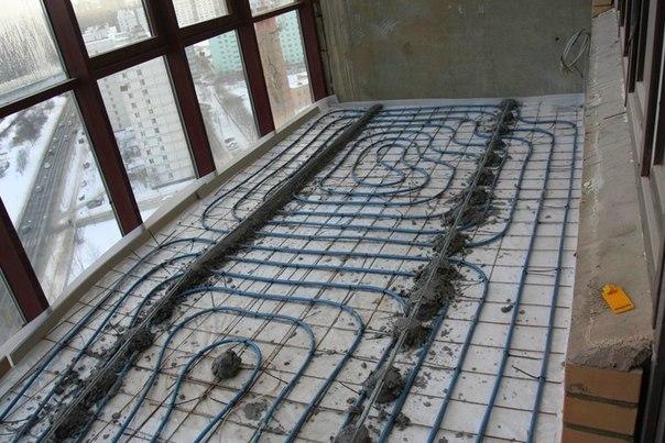 Как утеплить панорамную лоджию – монтируем теплый пол