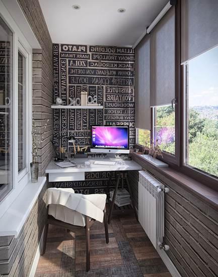 Маленький балкон и его внутренняя отделка