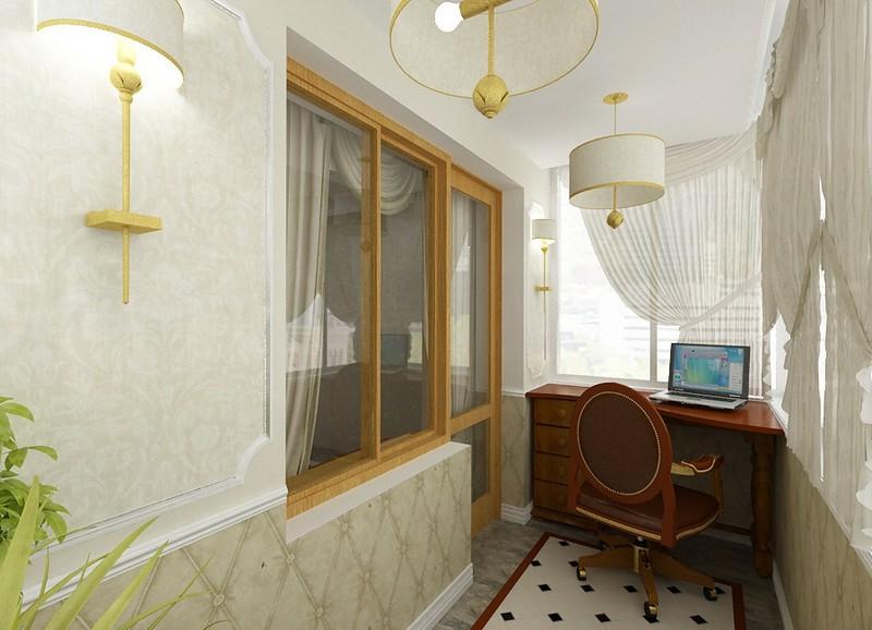 Освещение и оформление балкона