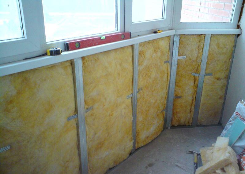 Утепление стен балкона и парапета