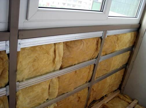 Вариант утепления балкона минеральной ватой