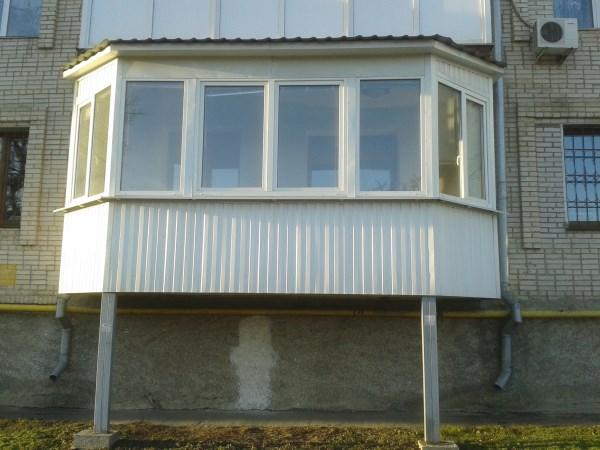 Делаем балконы на опорах