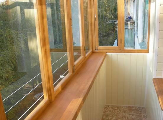 Дерево для остекления балконов и лоджий