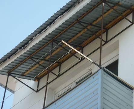 Как создается крыша на балкон, если этаж последний