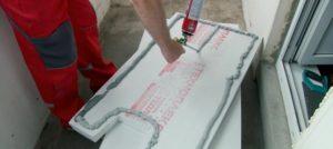 Клеевой метод утепления балкона пенопластом