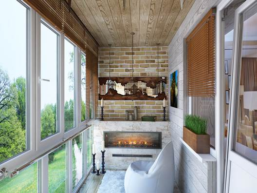 Оформление балкона или лоджии