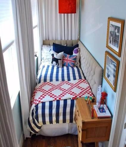 Оформление балкона-спальни