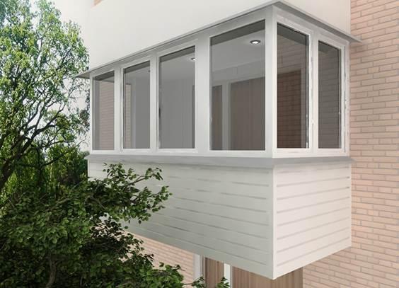 Рамный вариант остекления балкона