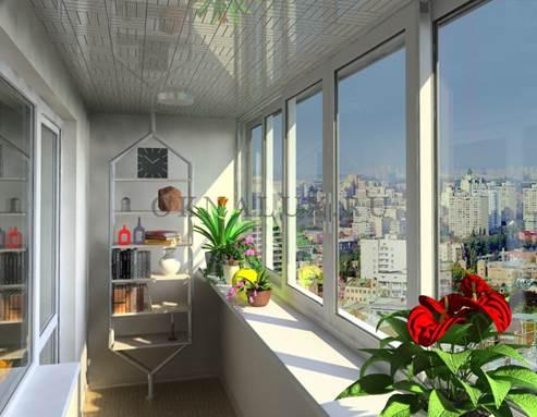 Раздвижные окна на балконе позволяют активнее использовать подоконник