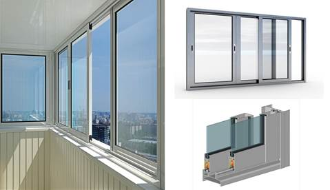 Способ остекления балконов алюминиевым профилем