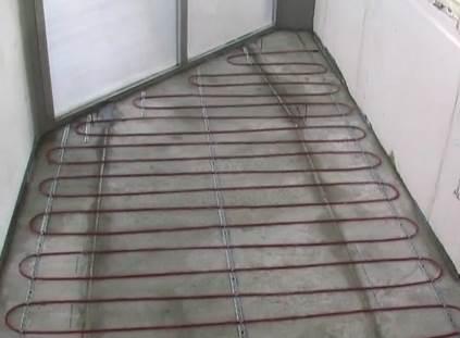 Способ устройства теплого пола на балконе