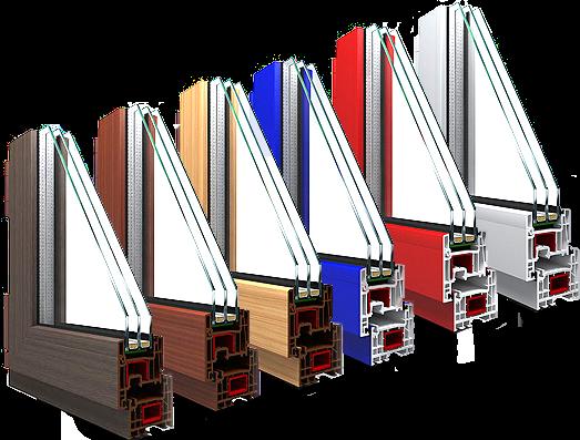 Цветные балконные пластиковые окна