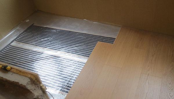 Теплый пол на балконе под ламинат