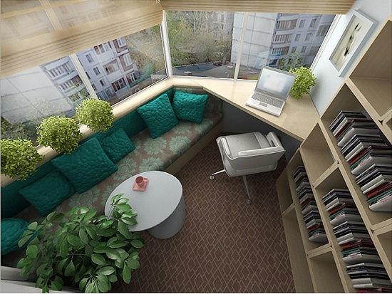 Уютный балкон для отдыха
