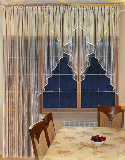 Гардины на кухню с балконом