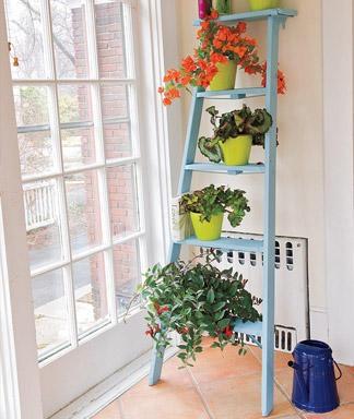 Один из вариантов декора пожарной лестницы