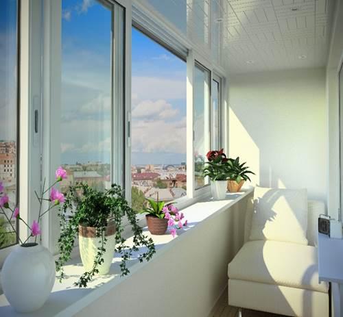 Окна на балконе защищают от осадков и ветра